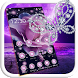 Purple Flower Diamond Butterfly Theme by Beauty Theme Studio