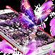 Purple Rose Diamond Flowers Pendant Theme