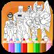Super Heros Coloring Pages by GeekLab.inc
