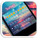 Sunset Emoji Keyboard Theme by Color Emoji Keyboard Studio