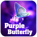 Purple Butterfly Theme by Excellent launcher