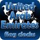United Arab Emirates flag cloc by modo lab
