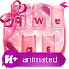 Pink Glitter Animated Keyboard by Animated Themes