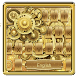 Classical Golden Watch Keyboard Theme by Input theme