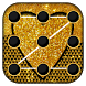 Gold Glitter Locker Theme by Luxury App Lock Theme