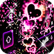 Neon Pink Love Keyboard by Keyboard Design Paradise
