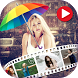 Rainy Photo Video Maker with Music by Photo Video Art Editor