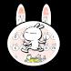 Rabbit Tuzki Girls Heart Cartoon Keyboard Theme by Brandon Buchner
