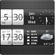 Sense Analog Small Clock 4x1 by Factory Widgets