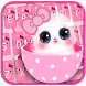 Pink Cute Kitty Keyboard by Input theme