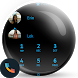 Flat Black Blue Dialer Theme by Themes Messages Contacts Dialer by Double L