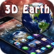 Space Planet 3D Earth Theme by cool 3d theme creator