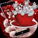 Cute Red Cup Teddy Bear Theme