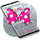 FREE Silver Pink Bowtie Theme by free cool launcher theme