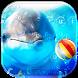 Cute dolphin Keyboard Theme by Locker Themes Center