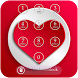 Heart Keypad Lock Screen by shree maruti plastic