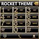 Theme Gold Diamonds RocketDial by Tak Team Studio