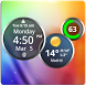 Rings Digital Weather Clock by Factory Widgets