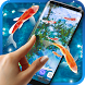 Koi Fish HD Live Wallpaper by 3D HD Moving Live Wallpapers Magic Touch Clocks