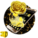 3D Black Gold Rose Theme by Launcher Design