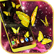 Gold Live Butterflies by 3D HD Moving Live Wallpapers Magic Touch Clocks