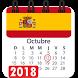 Calendario 2018 España con festivos semana santa by Appsamimanera