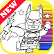 How Draw Coloring for Lego Bat Man Heroes by Fans