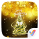 Golden Xmas Parallax V Launcher Theme