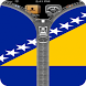 Bosnia and Herzegovina Flag ZP by zipper lock screen all country in world