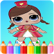 How To Color LOL Surprise Doll (coloring game ) by StudioColoringForKids