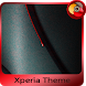 red drop | Xperia™ Theme - rounded edges by The Gosa
