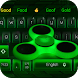 Hologram Fidget Spinner theme keyboard by Cool Theme Creator