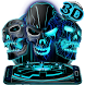 Neon Tech Evil Skull 3D Theme by 3dthemecoollauncher