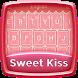 Sweet Kiss Keyboard Theme by Dev Themes