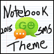 Notebook Paper Go SMS Theme by OneDzines
