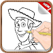How To Draw Toy Story Drawing Game For Adult by GoldenDraw