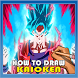 Drawing Super Saiyan Kaioken by SKATEN STUDIO