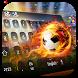 Fire football keyboard by Bestheme Keyboard Designer 3D &HD