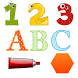 French and English Numbers Letters Shapes Colors by Pamplemousse Apps