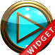 Poweramp Widget Lightblue Gold by Maystarwerk Skins & Widgets Vol.1