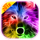 3D Wild Neon Wolf Theme by The Best Android Themes