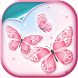 Pink Butterfly Live Wallpaper by Super Cool Girl Games and Apps Free