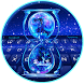Typany Blue Cool hourglass Keyboard Theme by Cool Themes and art work