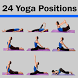 24 Yoga Position Daily Workout by Fitechz