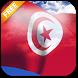 3D Tunisia Flag Live Wallpaper by App4Joy