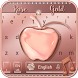Crystal Apple Rose Gold - Music Keyboard Theme by Luxury Keyboard Theme