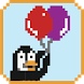 Pixel Penguin Balloon Edition by Mergu