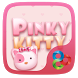Pinky Kitty Go Launcher Theme by Lucky Art