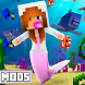 Mermaid tail Mods for Minecraft Pocket Edition by MonetAPP Studio