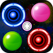 Bubble Shooter Glow Air Hockey by Network Scary